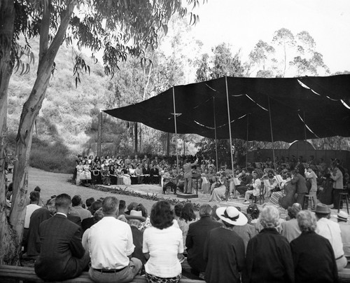Burbank Symphony Orchestra Performs at Stough Park 1940s