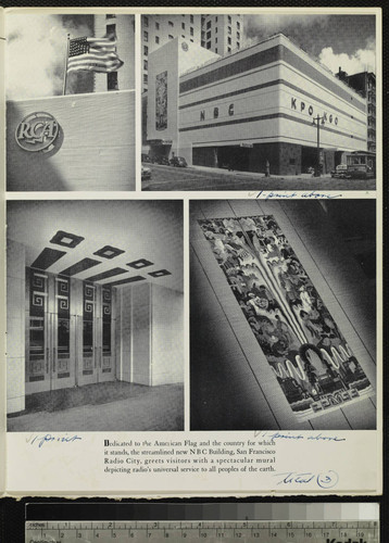 [National Broadcasting Company, inc.] [NBC]. Brochure