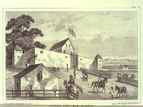 Sutter's Fort--New Helvetia, ca. 1849 [book illustration]