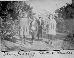 Alice Riddell, Redding Peterson, Glen Peterson and Blanche Riddell