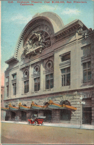 [Color postcard of Orpheum Theatre]