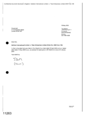 [Letter from Sam to Rosenblatt regarding Gallaher International Limited v Tlais Enterprises Limited]