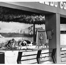View of El Dorado County's exhibit booth at the California State Fair. This was the last fair held at the old fair grounds