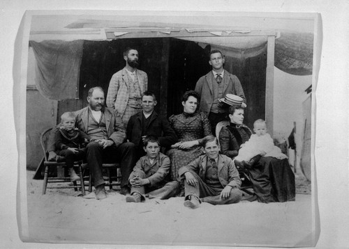 Photograph of William McFadden and family