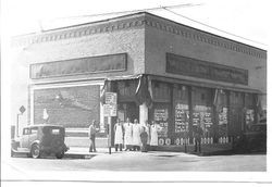 Old Safeway store in Sebastopol on the southwest corner of intersection of Bodega and Main Street, about 1930s