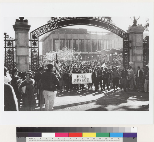 It was on November 20 that Mario Savio and other student protestors marched through Sather Gate toward Regents meeting