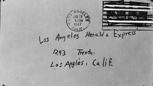 Envelope addressed to the Herald