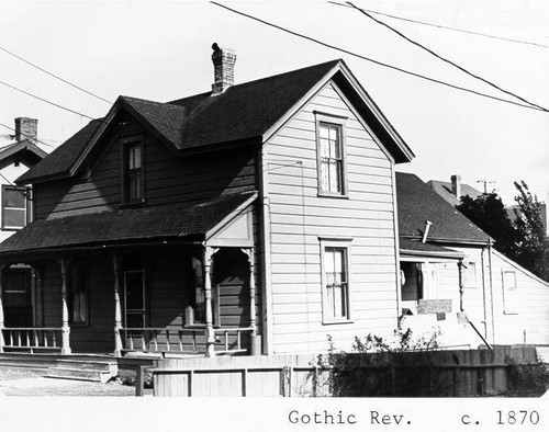 Image Simple Gothic Revival Farmhouse