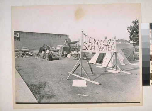 Tent City, San Mateo, California