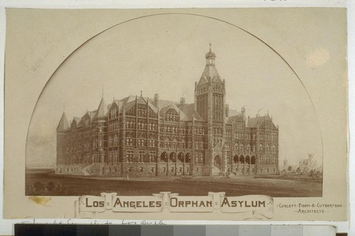 Los Angeles Orphan Asylum. [Photograph by Edouart & Son, Los Angeles. 2 copies--one mounted.]