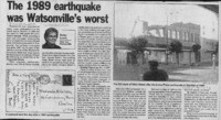 The 1989 earthquake was Watsonville's worst