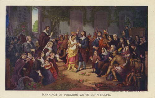 Calisphere Marriage Of Pocahontas To John Rolfe