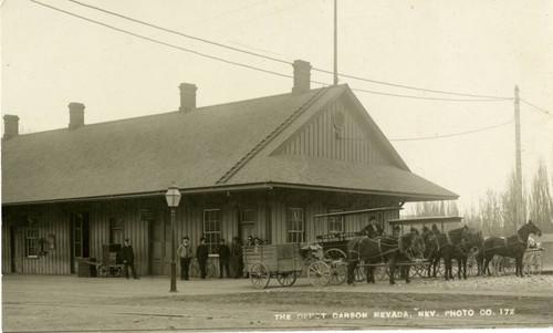 Calisphere Carson City Nevada Railroad Station