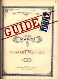Guide right march / composed by J.R. Wallace