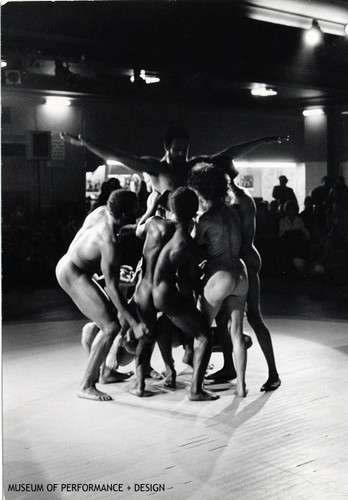 "Performers in Anna Halprin's ""Animal Ritual"" [features nude performers]"