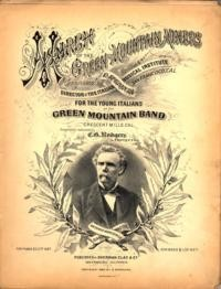 March of the green mountain miners / composed by D. Speranza