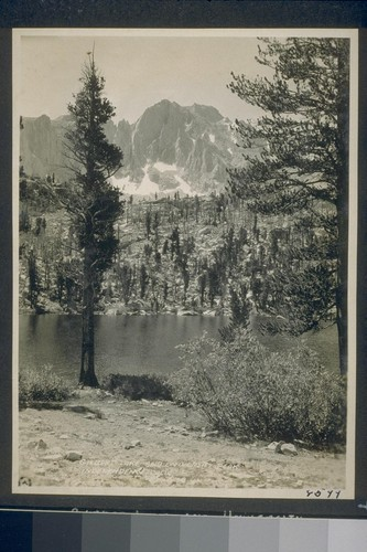 Gilbert Lake and University Peak. Independence, Cal. [California]