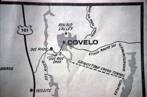 Map of Covelo and Round Valley