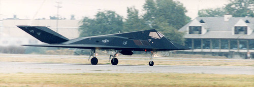 F-117A Stealth Fighter at the Van Nuys Airport annual Aviation Expo, 1995