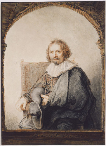 Rembrandt Sitting in an Armchair