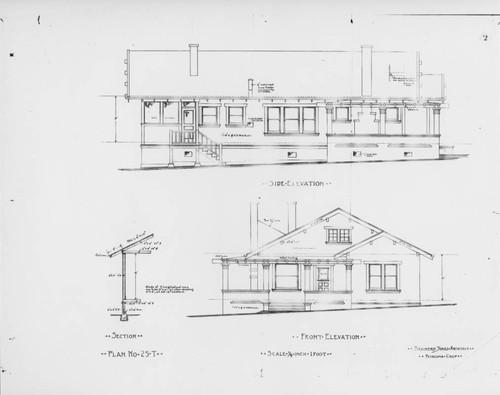 Calisphere blueprints for an unidentified craftsman style home in blueprints for an unidentified craftsman style home in petaluma california prepared by architect brainerd jones malvernweather Choice Image