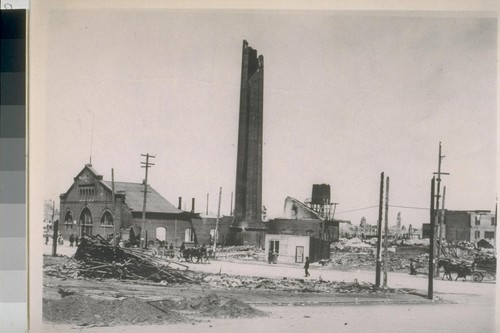 [Ruins of Market and Valencia Power House. Duplicate of 39:419.]