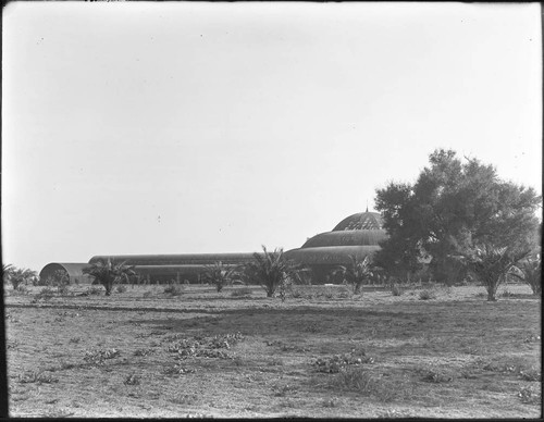 Lath house on the San Marino ranch, circa 1908