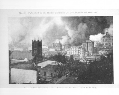 View of San Francisco, Cal. during the big fire, April 18-20, 1906