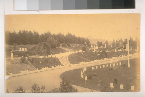 Mountain View Cemetery, Oakland, California, 1885