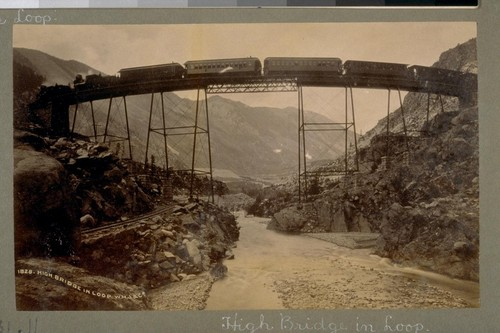 High Bridge in Loop. 1828. [Colorado. Photograph by William Henry Jackson & Co.]