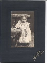 Portrait of Ethel M. Sharp in 1909 at age two years old