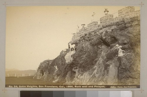 No. 54 - Sutro Heights, San Francisco, Cal., 1886, Rock wall and Parapet