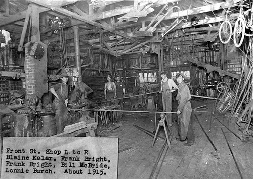 Interior of Bright Brothers Smithy