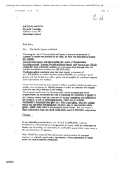 [Letter from MK to John Moxon regarding Old stocks Cyprus and Dubai]