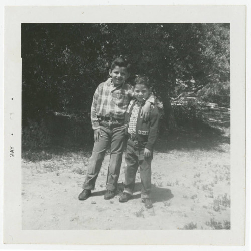 Reginald and Raleigh Holguin in jeans