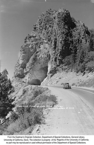 Cave Rock Tunnel on Lake Tahoe Highway