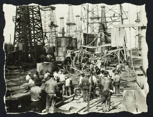 Oil refinery damaged by the 1933 earthquake (?)