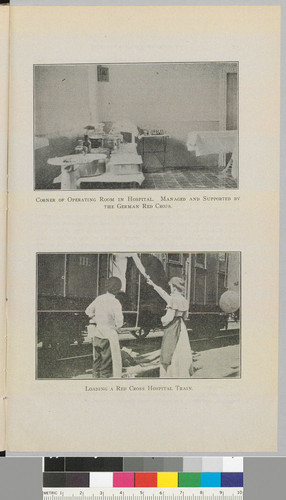 Corner of Operating Room in Hospital and Loading a Red Cross Hospital Train