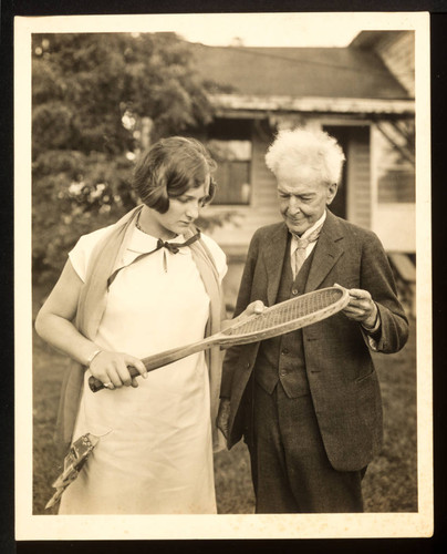 Luther Burbank with Helen Hull Jacobs