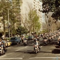 Motorcycle Police Officers in Procession