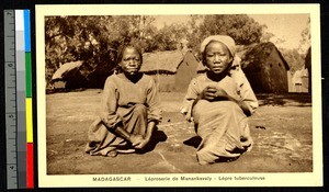 Leprosy and turberculosis patients, Madagascar, ca.1920-1940
