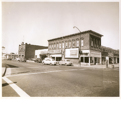Northwest corner of 6th Street and Broadway, 1955