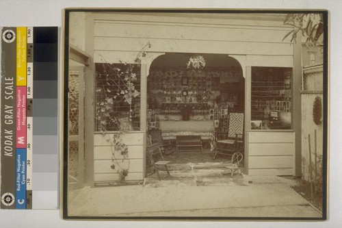 [Photograph gallery at residence of Isaiah West Taber. Photograph by Isaiah West Taber.]