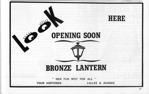 Bronze Lantern advertisement
