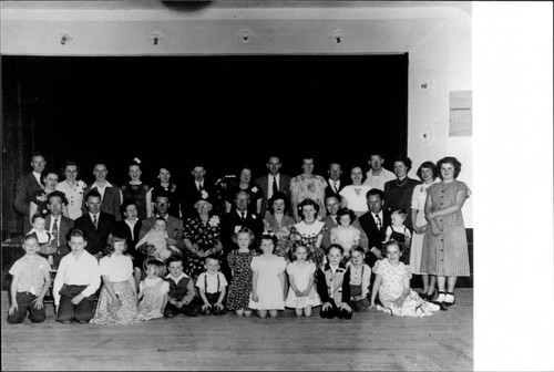Brians family at golden wedding anniversary of Mr. and Mrs. John F. Brians, March 1949