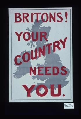Britains. Your country needs you