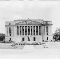Exterior view of the State Library and Courts Building