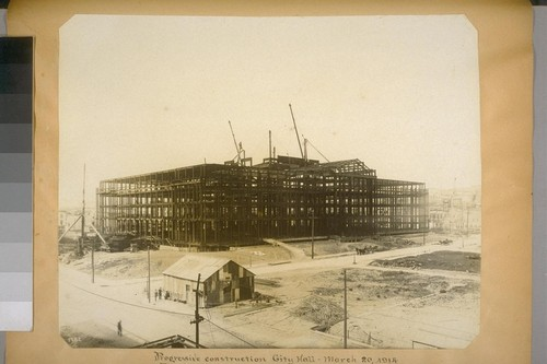 Progressive construction, City Hall. March 20, 1914. (Polk St. elevation--looking North from Grove St.) 1782