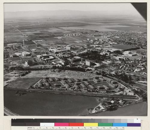 Solano Apartments: Calisphere: Davis Campus. This 1967 Aerial Photograph