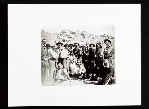 Native Americans, Soldiers, and other men in Southwest (Photo Print--Edna Burbank Hayes Wonder Book)